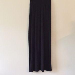 Simple black maxi skirt